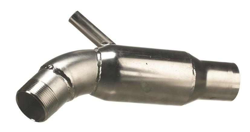 Avgaskrök rostfri till Yanmar QM-serie (16800)