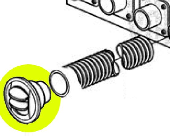 Munstycke för utblås  slangdiameter 50 mm