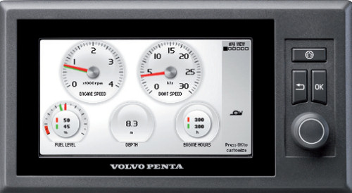 Volvo Penta EVC display