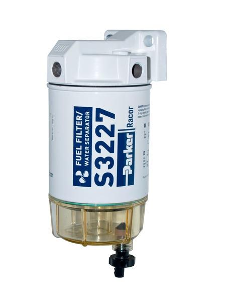 Racor grovfilter bensin, max 227 l/h - plastkopp