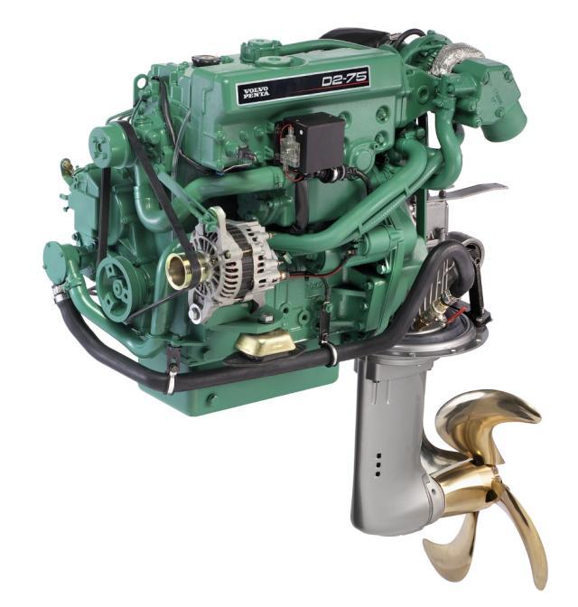 Dieselmotor D2-75 med S-drev 150S