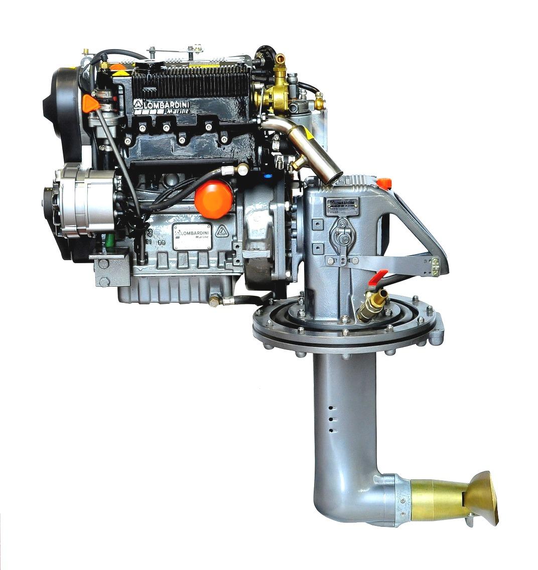 Lombardini LDW1003M, 27 hk dieselmotor med S-drev