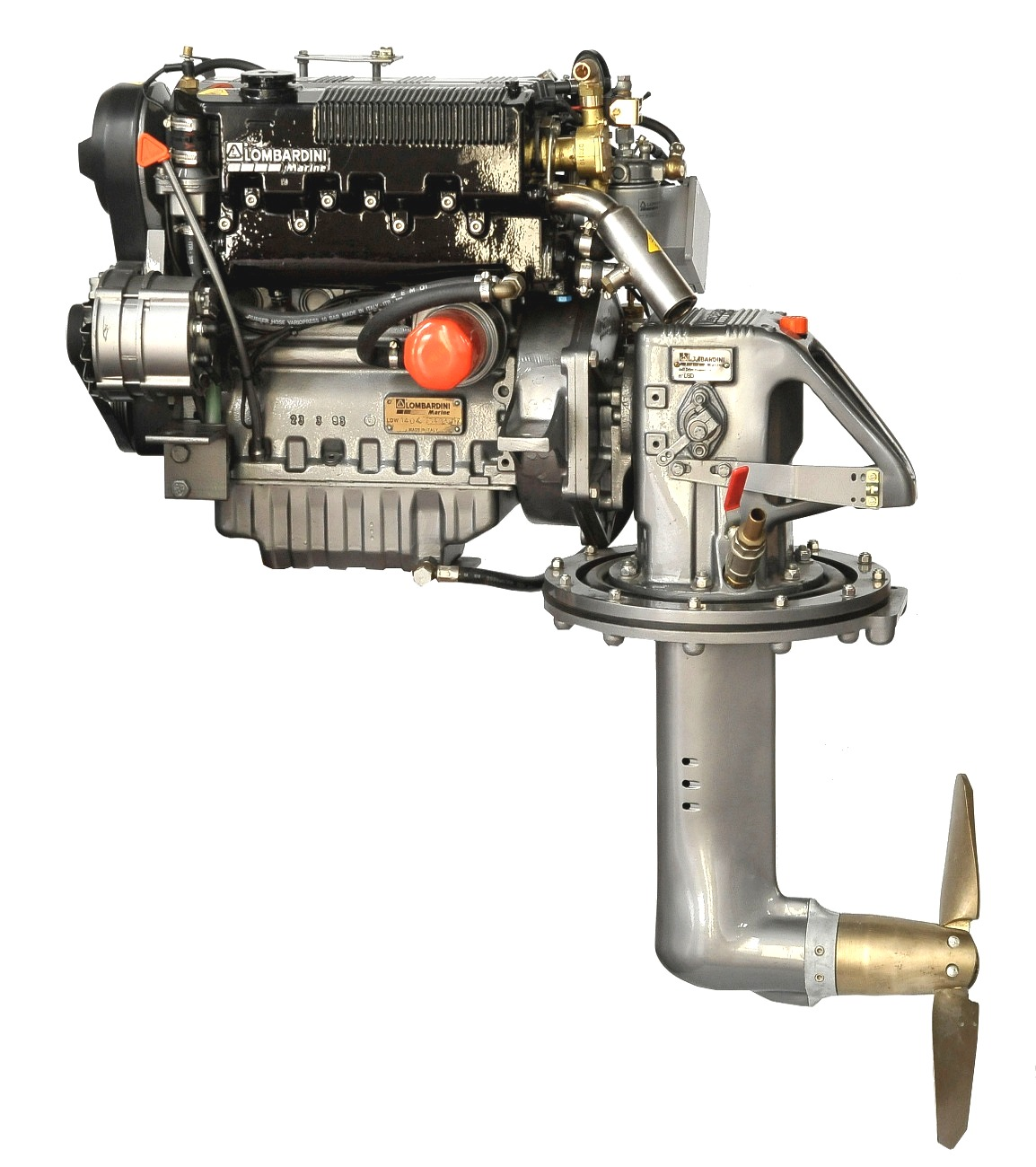 Lombardini LDW1404M, 35 hk dieselmotor med S-drev