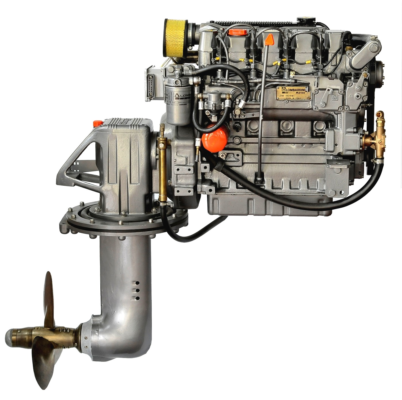 Lombardini LDW2204M, 50 hk dieselmotor med S-drev