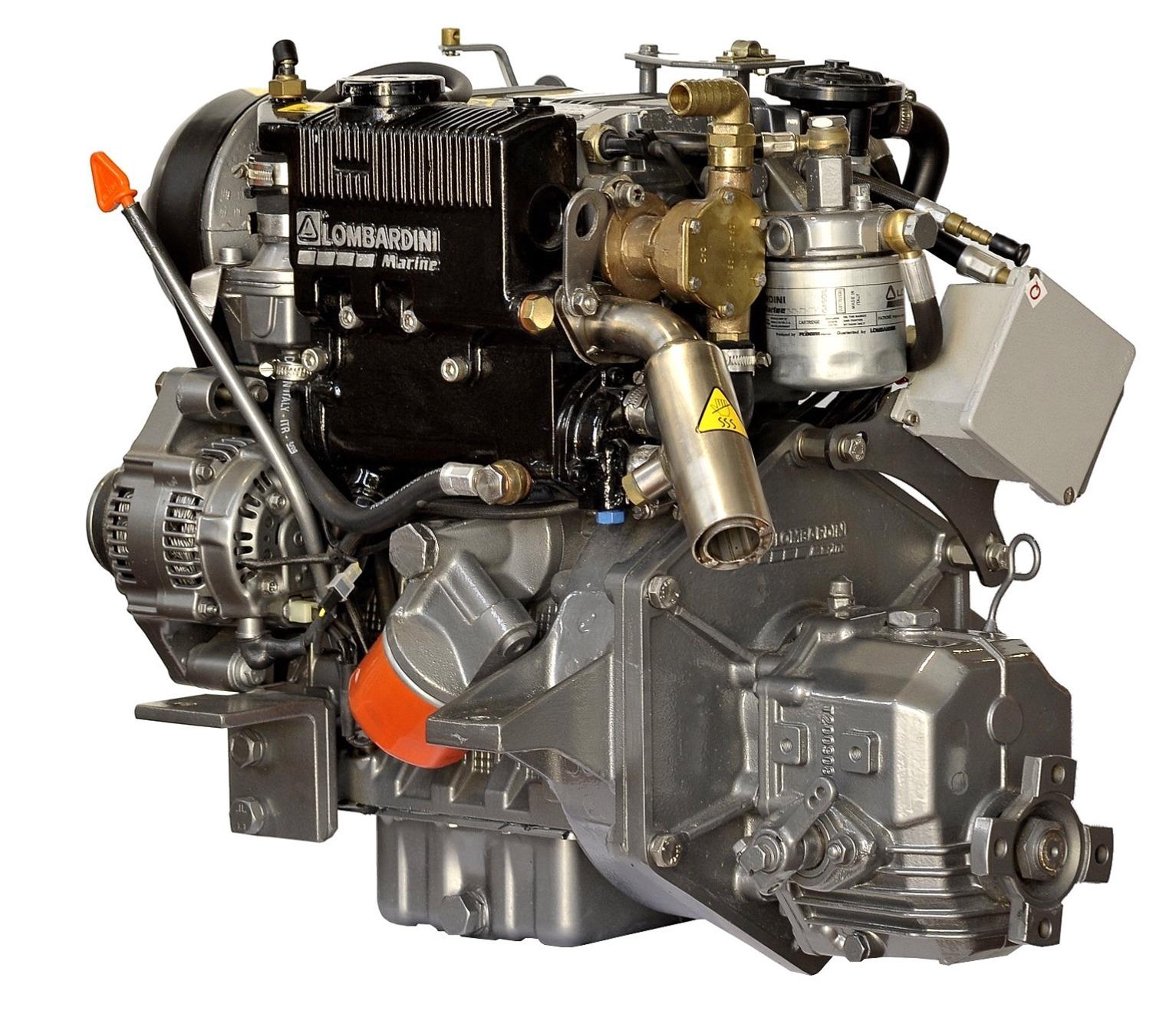 Lombardini LDW502M, 11 hk dieselmotor med backslag TMC40