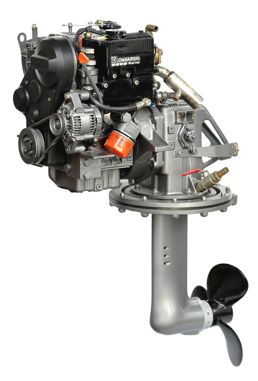 Lombardini LDW502M, 11 hk dieselmotor med S-drev