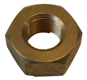 Mutter för propelleraxel (millimetergänga) M18x1,5 H=13 mm
