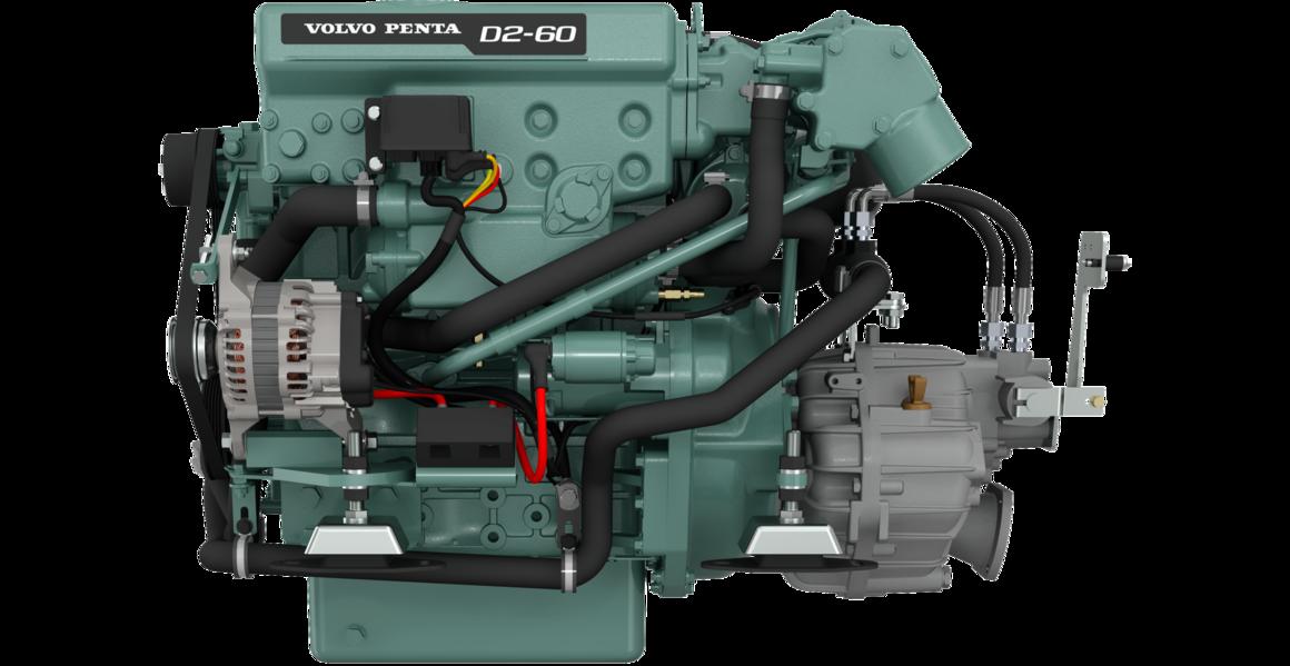 Dieselmotor D2-60 med backslag MS25