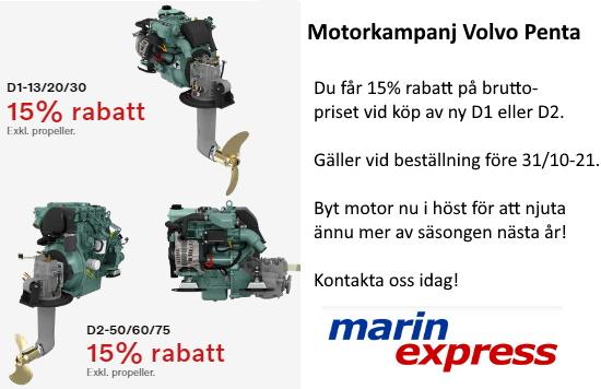 Motorkampanj Volvo Penta hösten 2021